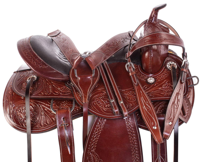 Amazon com : AceRugs Leather Tooled Western Training Horse