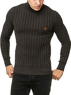Red Bridge Hommes Manches Longues Pullover Rayures Col Roulé Sweat-Shirt  Basic Nervuré Pull 4de55045b4bc