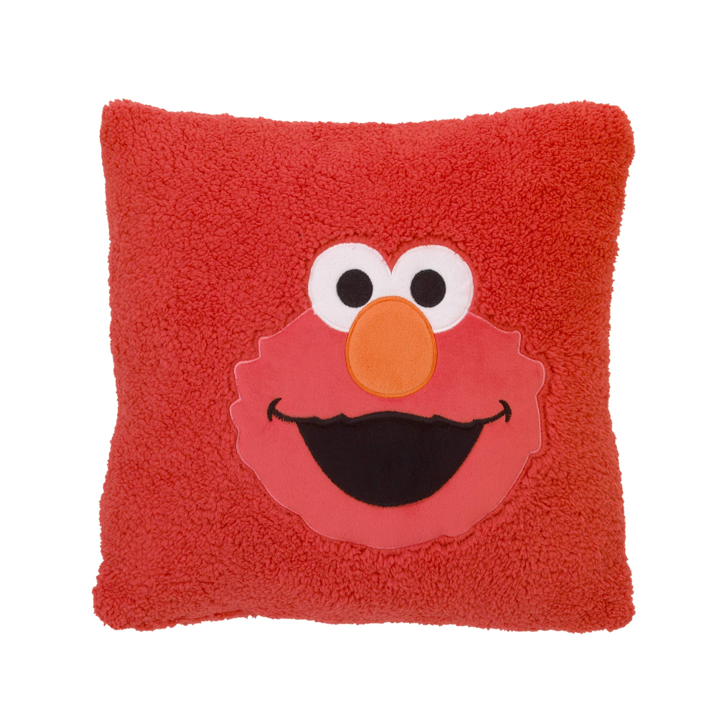 Sesame Street Elmo Red Super Soft Sherpa Toddler Pillow with Applique, Red/Orange/White/Black by Sesame Street