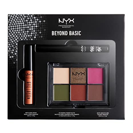 69e9bb84829 Nyx Professional Makeup Beyond Basic Look Set, Number 17: Amazon.in: Beauty