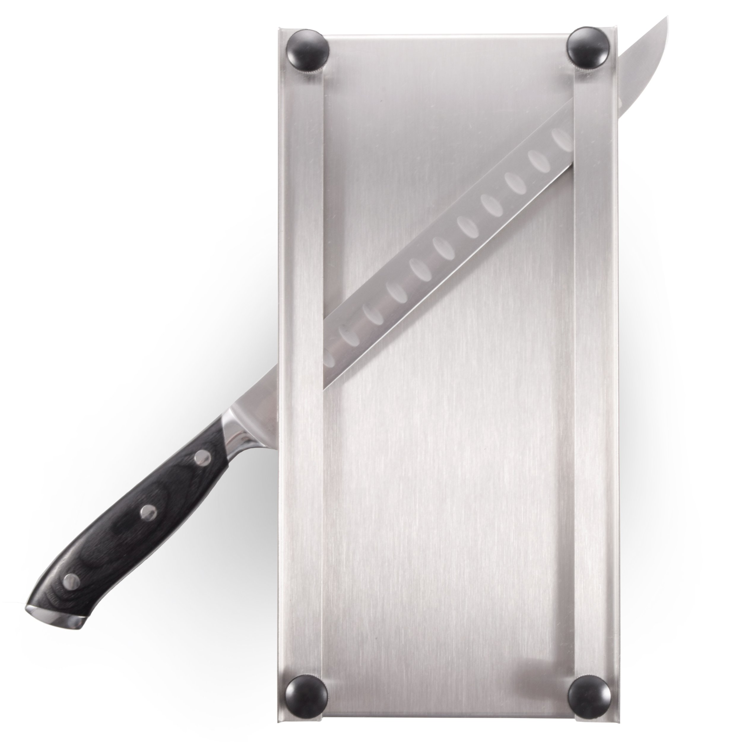 Shop-Ezy Stainless Steel Jerky Maker Cutting Board With 10-Inch Professional Slicing and Carving Knife