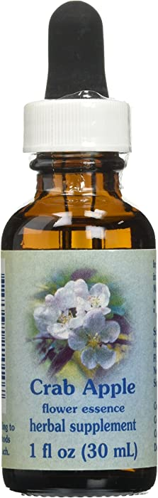 Flower Essence Services Dropper Herbal Supplements, Crab Apple, 1 Ounce