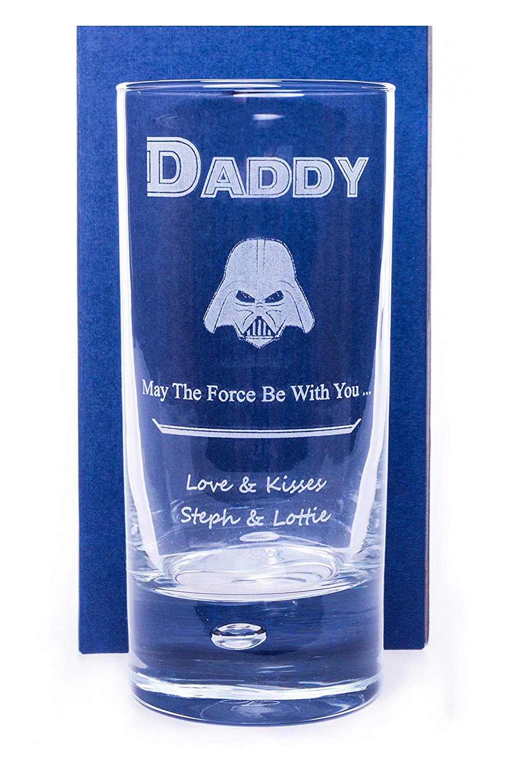 Engraved/Personalised STAR WARS DARTH VADER HighBall Glass Gift For Fathers Day/Birthday/Christmas/Dad/Daddy/Step Dad/Husband/Son/Boys/Men/Grandad/Grandson/Nephew/Best Man/Usher/Page Boy/Wedding/Uncle/Boyfriend Cr8 A Gift