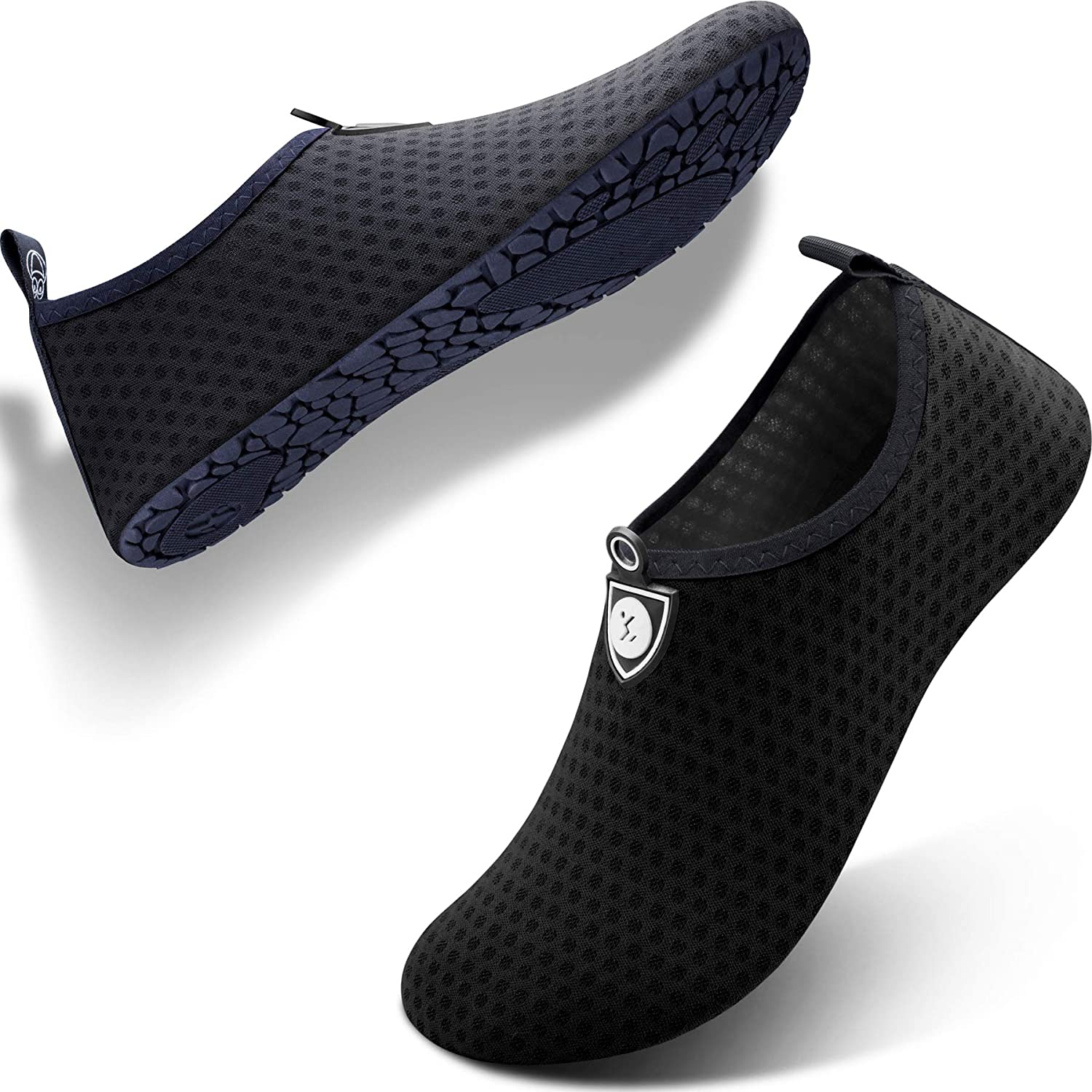 SIMARI Womens and Mens Water Shoes Quick Dry Aqua Socks Barefoot for Outdoor Beach Swim Surf Yoga Exercise SWS001