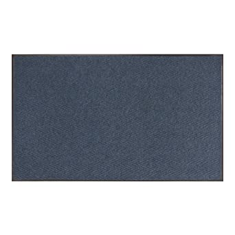 Chevron Entrance 3//8 Inch Thickness Blue 2 x 3 Entry Mats