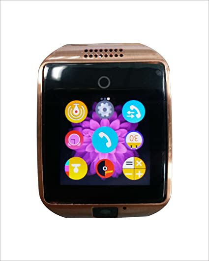 COLOFAN C02 Men and Women Bluetooth Smart Watches Can Plug Mobile Phone Card Phone Camera Sport Watch Pedometer (gold with Black Band)