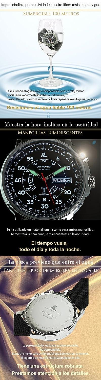 LAD WEATHER Reloj Radio-Control Energía-Solar Batería-Recargable Automático-Corrección-de-Tiempo Varios-Husos-Horarios: Amazon.es: Relojes