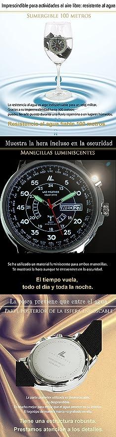 [LAD WEATHER] Funciona con energía Solar Automático corrección de Tiempo Reloj de Radio para Hombres Relojes de Pulsera: Amazon.es: Relojes