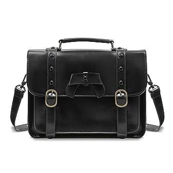 34861bc5326 Amazon.com: ECOSUSI Vintage Crossbody Messenger Bag Satchel Purse Handbag  Briefcase for Women & Girl, Black: Computers & Accessories