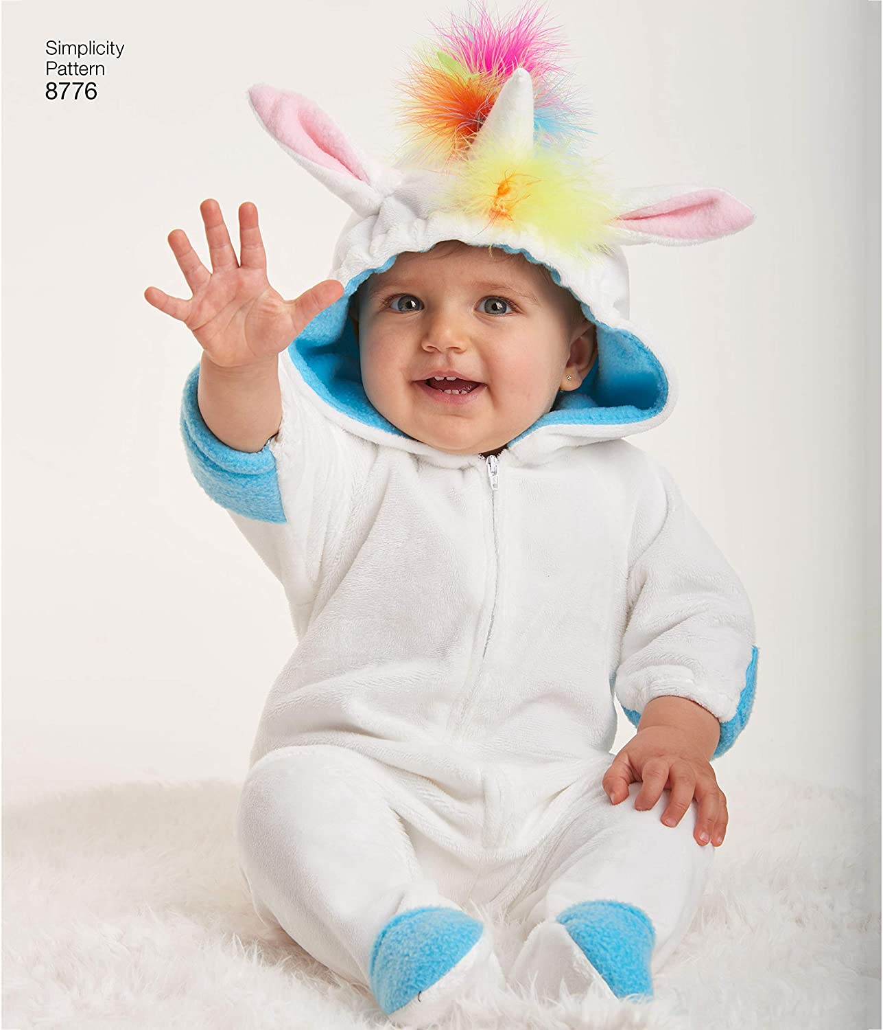 Sizes XS-L Simplicity 8776 Animal Onesie Baby Costume Sewing Pattern 5 Styles