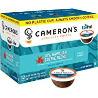 Cameron's Coffee Single Serve Pods, 10% Hawaiian Coffee Blend, 12 Count (Pack of 6)