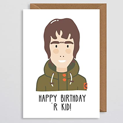 Tarjeta de cumpleaños para novio - Liam Gallagher tarjeta de ...