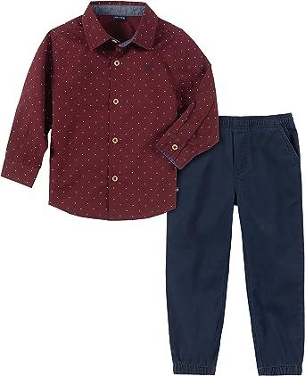 Nautica Conjunto de 2 Piezas de Pantalones de Camisa para niños: Amazon.es: Ropa y accesorios