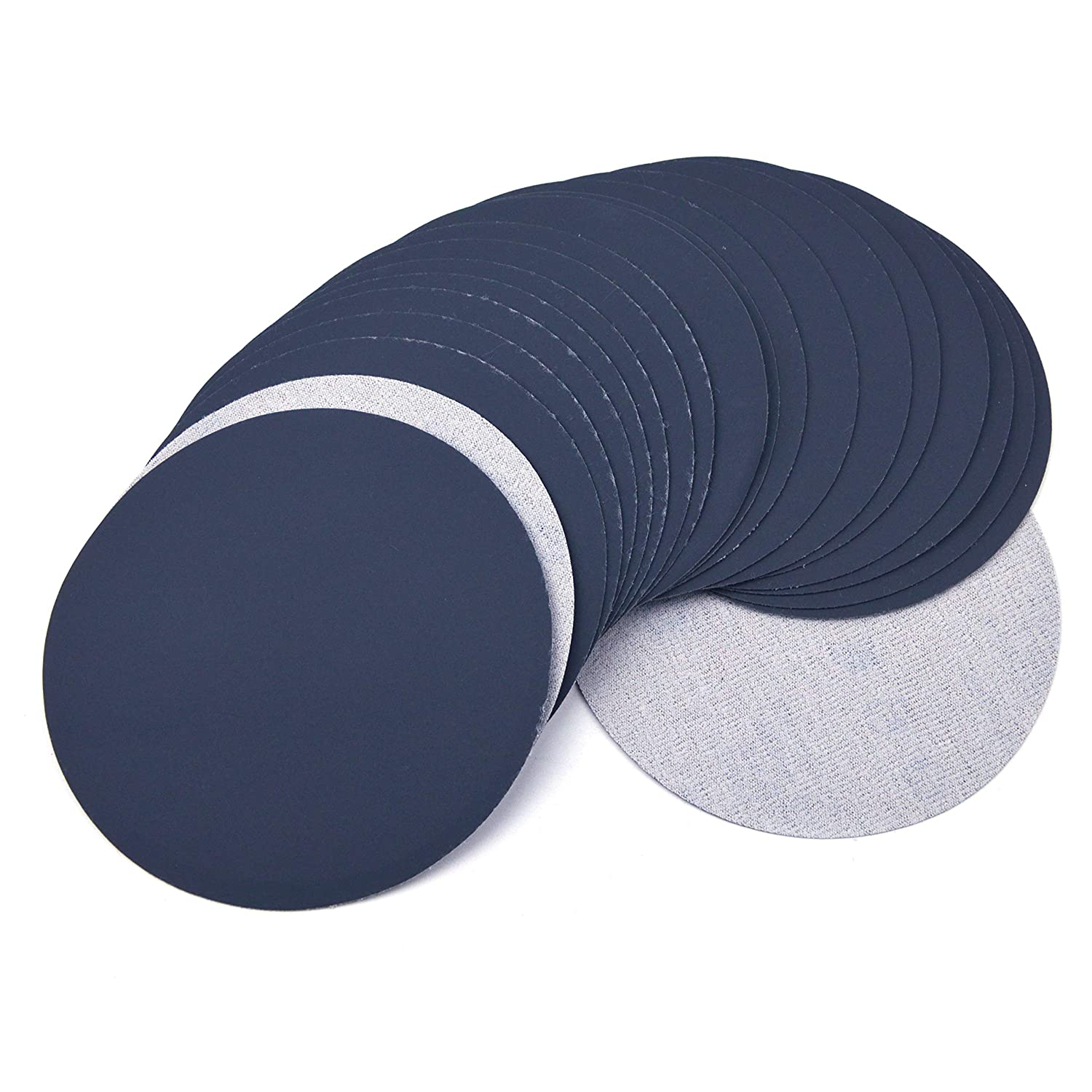 6 Inch (150mm) 1200 Grit High Performance Waterproof Hook & Loop Sanding Discs Heavy Duty Silicon Carbide Round Flocking Sandpaper for Wet/Dry Sanding Grinder Polishing Accessories, 20-Pack 81yTAKf2BRTL