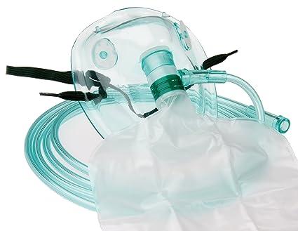 Máscara de Oxígeno orig. Tiga-Med alta concentración con reserva Bolsa F. adultos