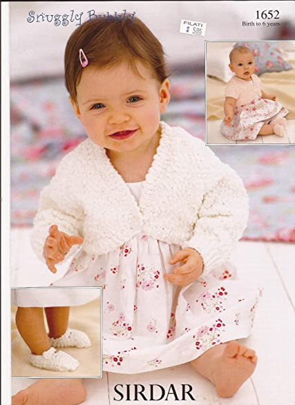 Amazon Sirdar Snuggly Bubbly Knitting Pattern 1652 Bolero