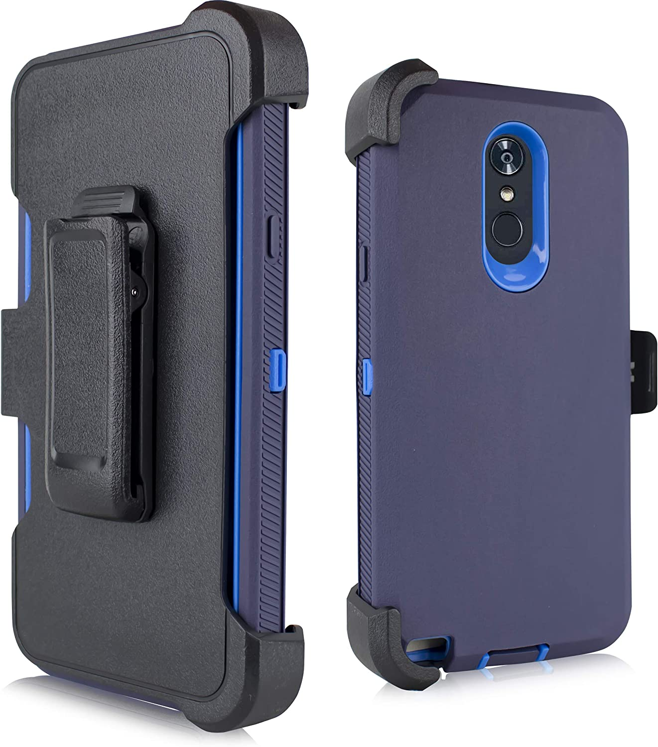 LG Stylo 4 Case, LG Q Stylo Case, Heavy Duty Armor Case, Belt Clip Holster w/ [Built-in Screen Protector] Shockproof Cover for LG Stylo 4 Plus/LG Stylus 4 (Navy)