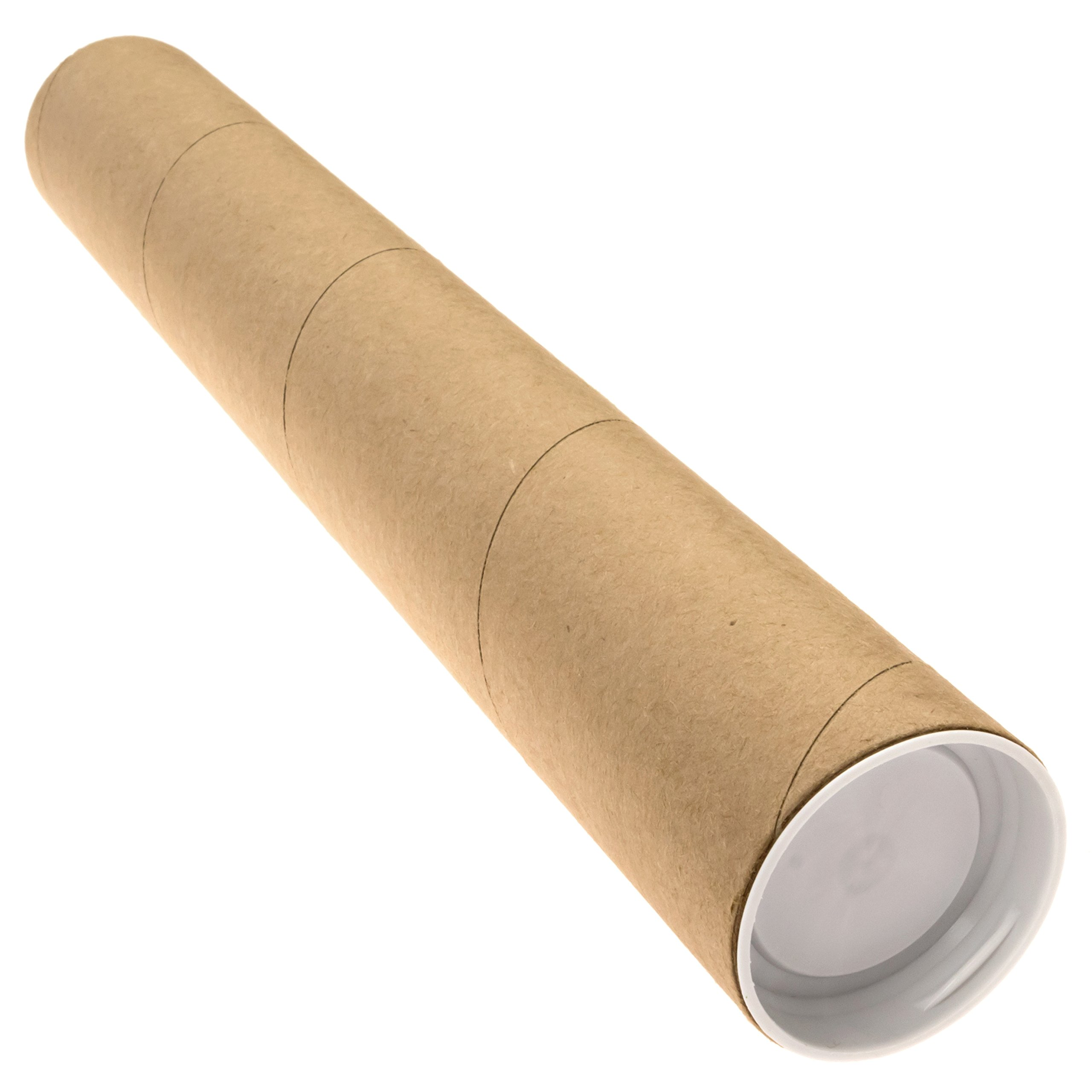 2'' x 18'' Cardboard Mailing Tube 12 Pack with Caps by Precision Cardboard Tubes
