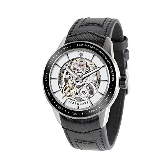 Maserati Reloj Analógico Automático para Hombre con Correa de Cuero - R8821110003: Maserati: Amazon.es: Relojes