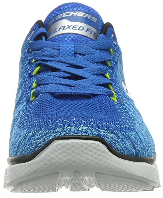 Skechers Men's Equalizer 2.0 Perfect Game Low-Top Sneakers, Blue (Bllm - Blue  Lime), 9 UK: Amazon.co.uk: Shoes & Bags