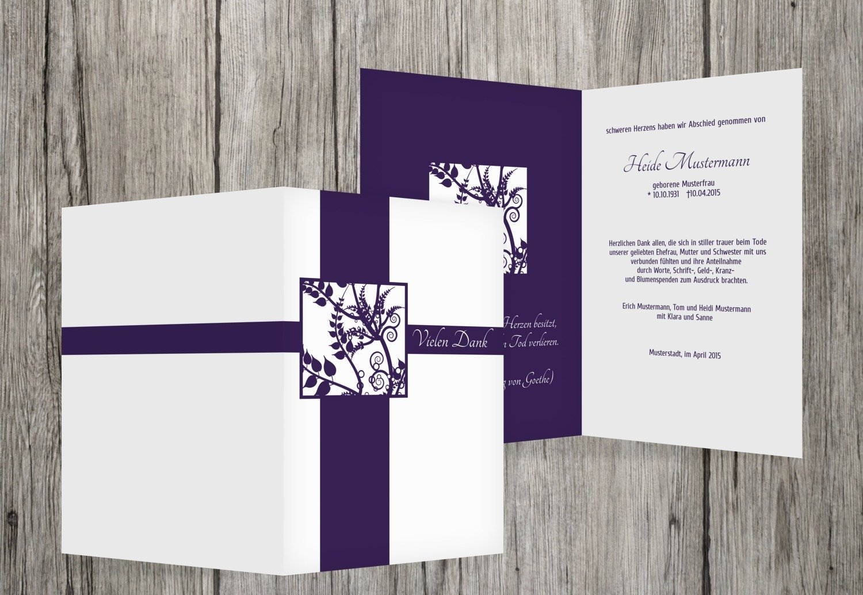 gran descuento Tarjetas de agradecimiento luto florales cuadrado, cuadrado, cuadrado, dunklesLavendelLila, 40 Karten  solo para ti