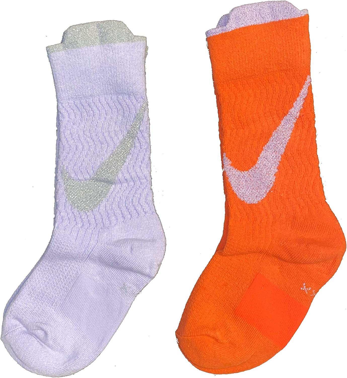 Pensar en el futuro Cambio Confundir  Amazon.com: Nike Toddler Girl's Crew Socks (2 Pairs), Shoe Size 7C-10C/4-5  (Sock Size): Clothing