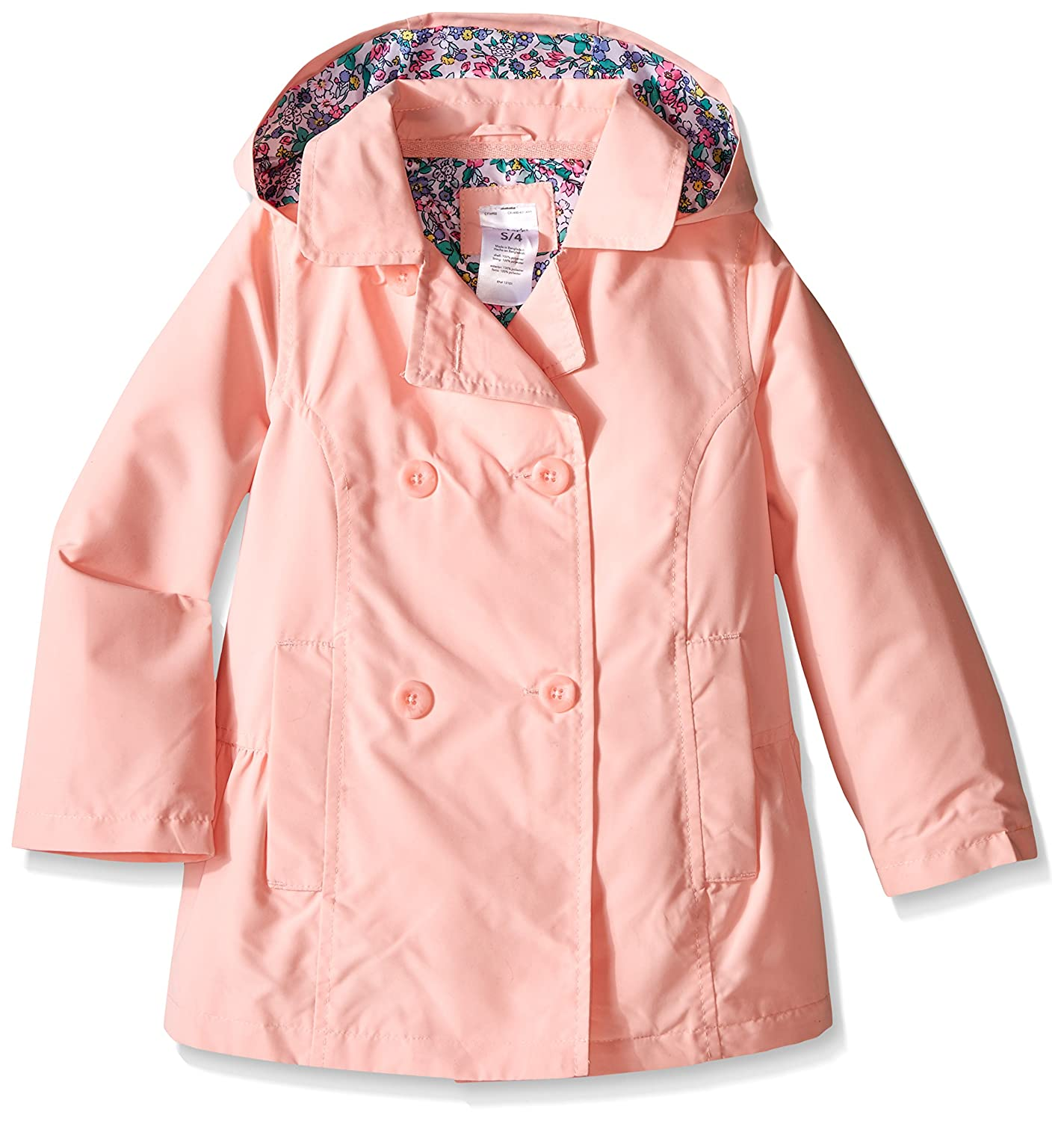Carters Girls Solid Poly Trench Coat