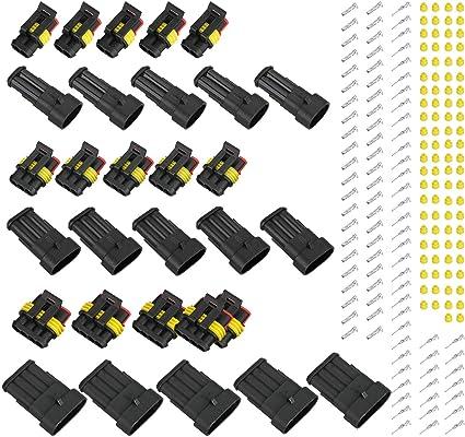 4 Pin Viaggio Auto Sealed Impermeabile Cavo Elettrico connettore connettore EDtara Regalo per Uomini e Donne 15 Kit 2 3