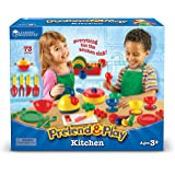 Learning Resources LER9157 Pretend & Play Kitchen Set (73 Pieces)