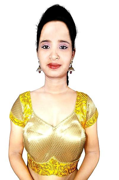 Ldoff Women S Half Sleeve Padded Blouse Rajasthani Jaipuri