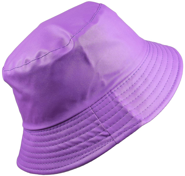 be507e49b4f08 BODY STRENTH Women s Bucket Rain Hat Wide Brim Waterproof Light Purple at  Amazon Women s Clothing store