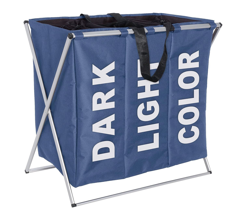 Wenko 3440021100 Cesto para la ropa sucia desmontable 52 L