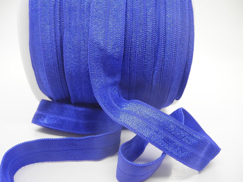 Fold Over Elastic You Choose Yards Print Elastic Royal Blue Sparkle on white FOE Elastics by the Yard Foe 58 Fold Over Elastic