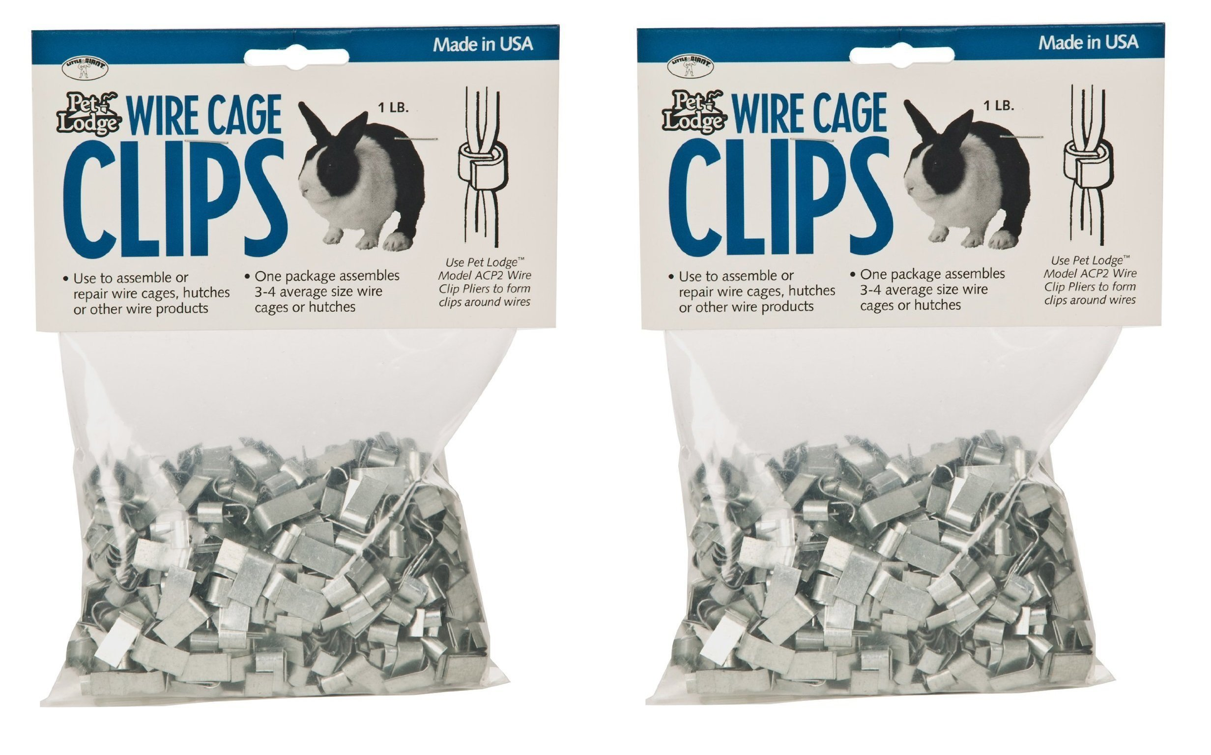 Miller Manufacturing ACC1 Wire Cage Clips (Pack of 2)