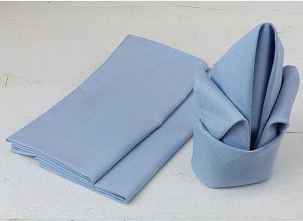 Servilletas de tela elegantes en varios colores, 45 x 45 cm, mantel a juego disponible, 100