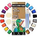 Craft Pro Face & Body Paint Pintura Artística Profesional para La Cara - 54 Piezas. Aprobada para Piel Sensible. Vegano…
