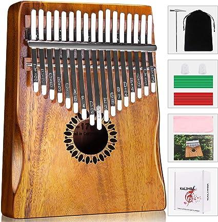 Oreille de chat Pas de z/éro Taille unique Xpccj Piano Pouce Portable Mini 8 Touches Kalimba Accessoire musical et cadeau id/éal 6,5 x 5 x 1,5 cm