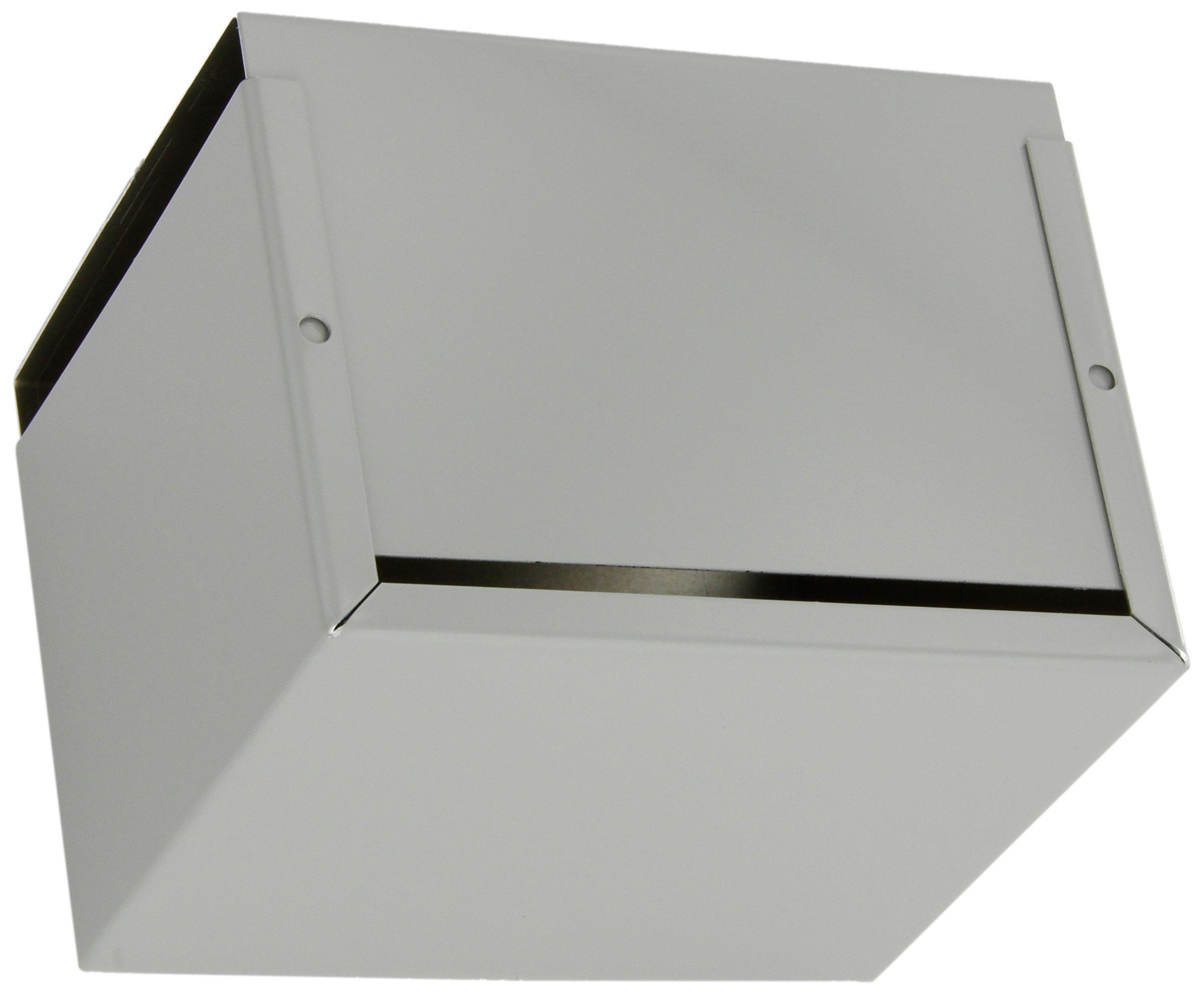 BUD Industries CU-2107-B Aluminum Electronics Minibox, 6'' Length x 5'' Width x 4'' Height, Smooth Gray Finish