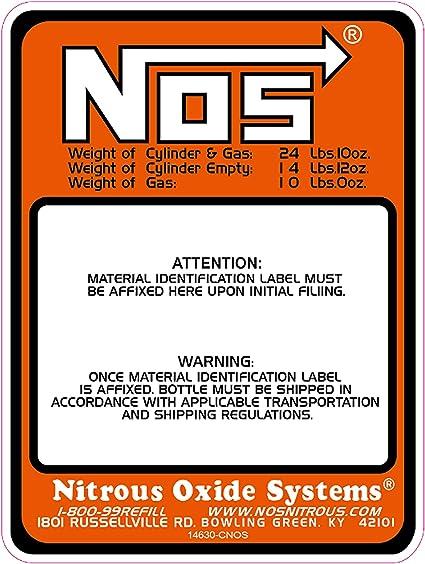 Dracary NOS Replacement 10LB Nitrous Bottle Label Sticker Decal 1PCS