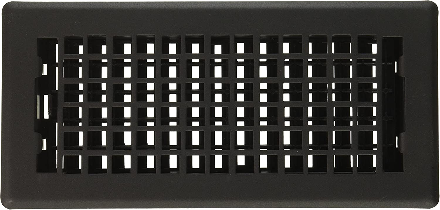 Decor Grates LTH410-BLK Lattice Painted Floor Register, 4-Inch by 10-Inch, Black
