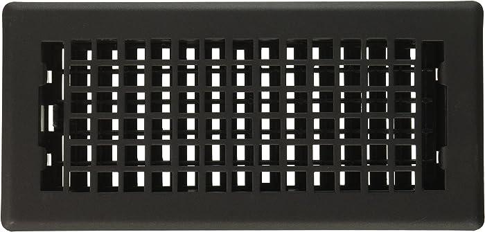 Decor Grates LTH410-BLK Lattice Painted Floor Register, 4-Inch by 10-Inch, Black