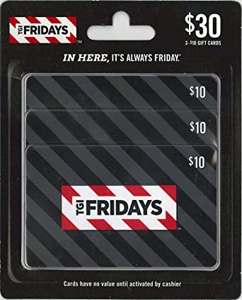 Amazon.com: T.G.I. Friday's Gift Cards, Multipack of 3 - $10: Gift ...