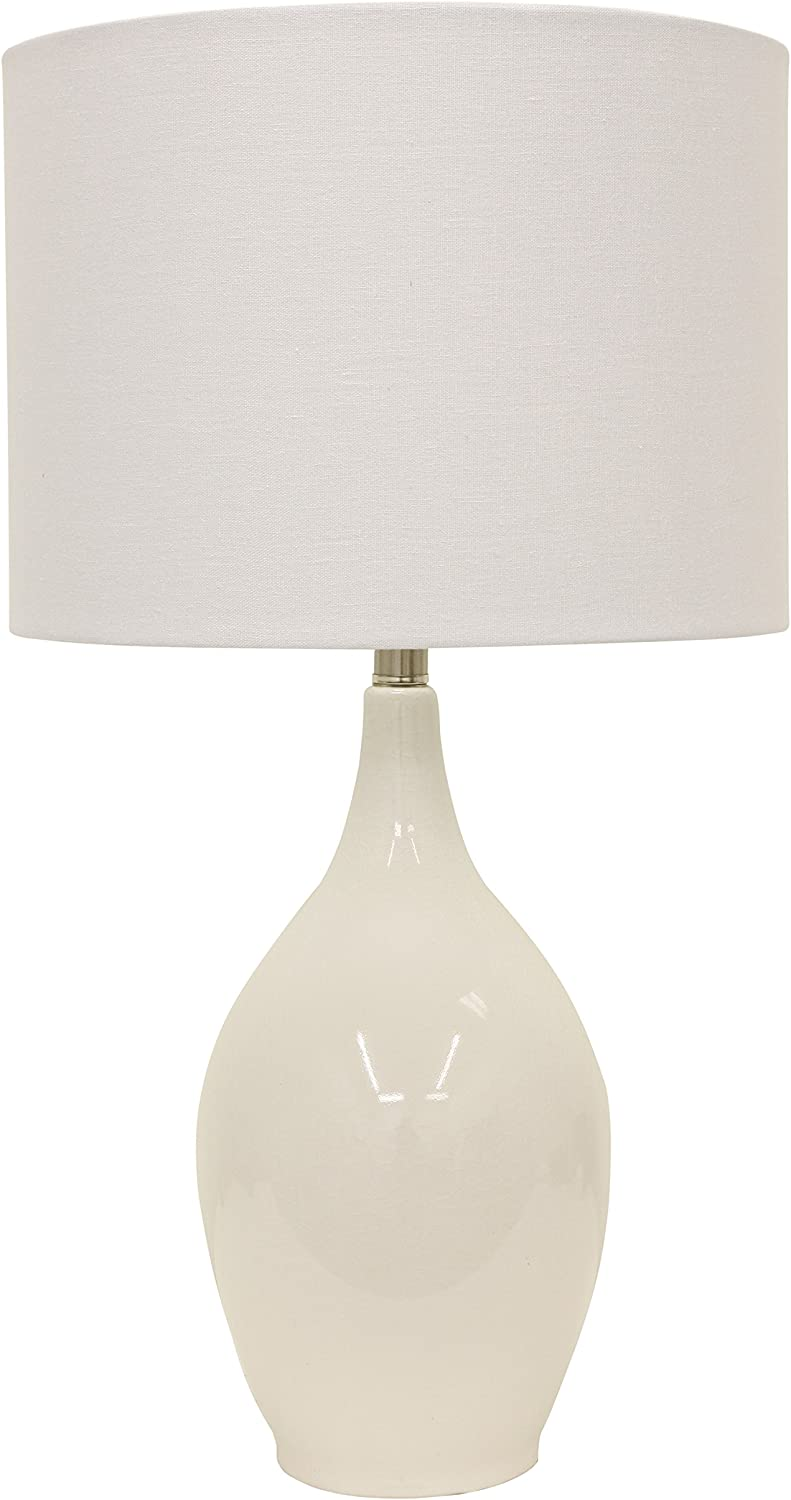 Decor Therapy TL15460 Table Lamp, High Gloss White