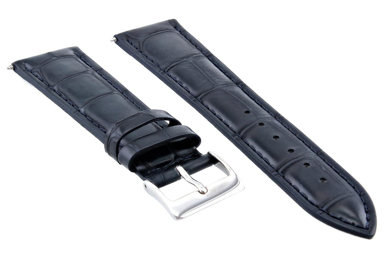 20 mm Leather Watch Strap Band for IWCダークブルーネイビー  B07D6Q6TJY