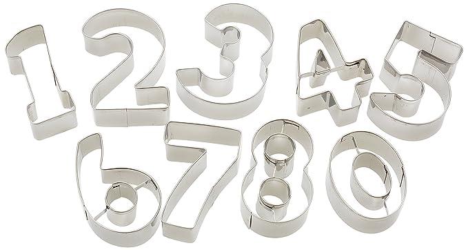 Kitchen Craft - Cortadores de galletas en forma de números: Amazon.es: Hogar