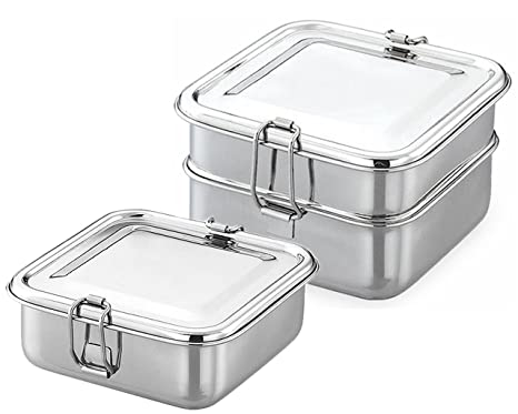73a018520ee Buy King International Stainless Steel Square Single Tier Lunch Box ...