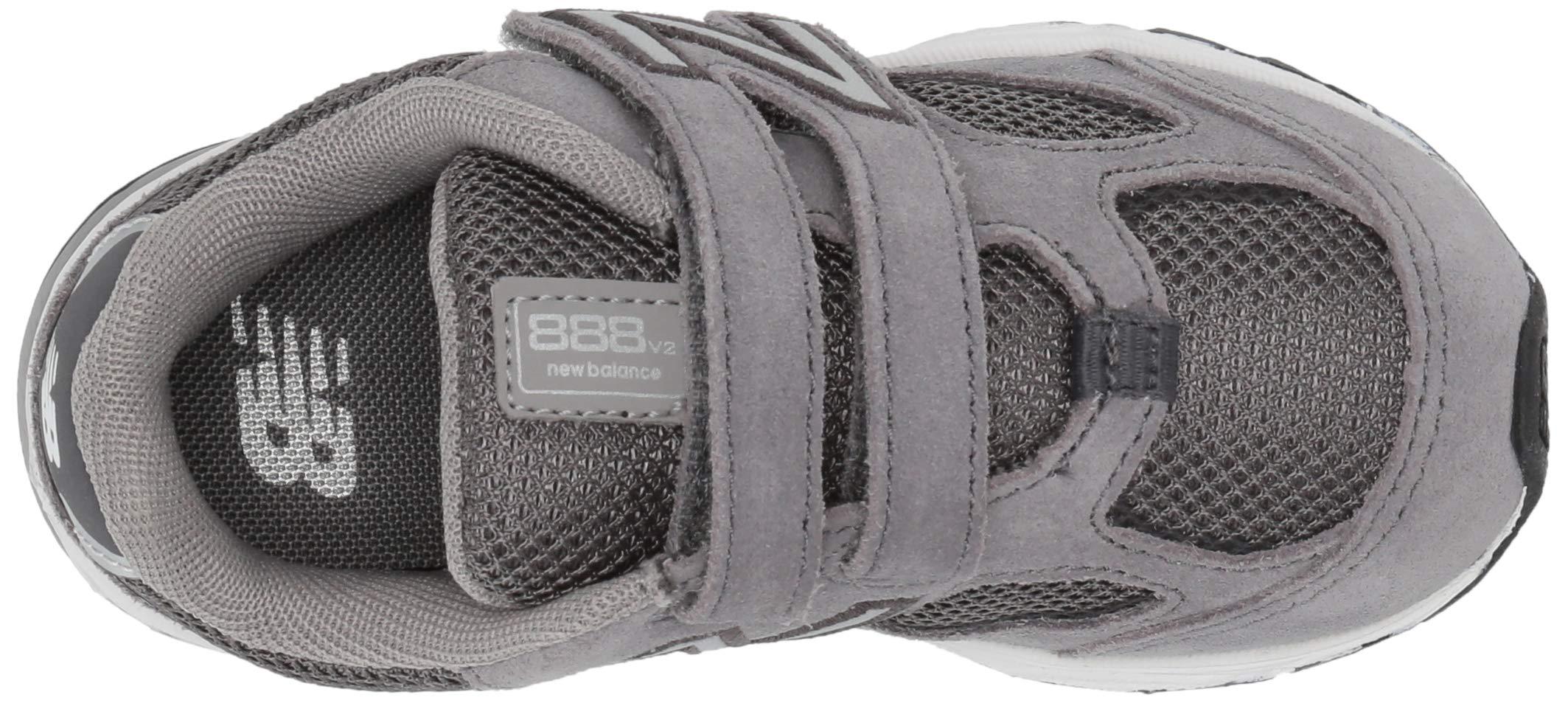 New Balance Boys' 888v2 Hook and Loop Running Shoe, Dark Grey, 2 M US Infant by New Balance (Image #7)