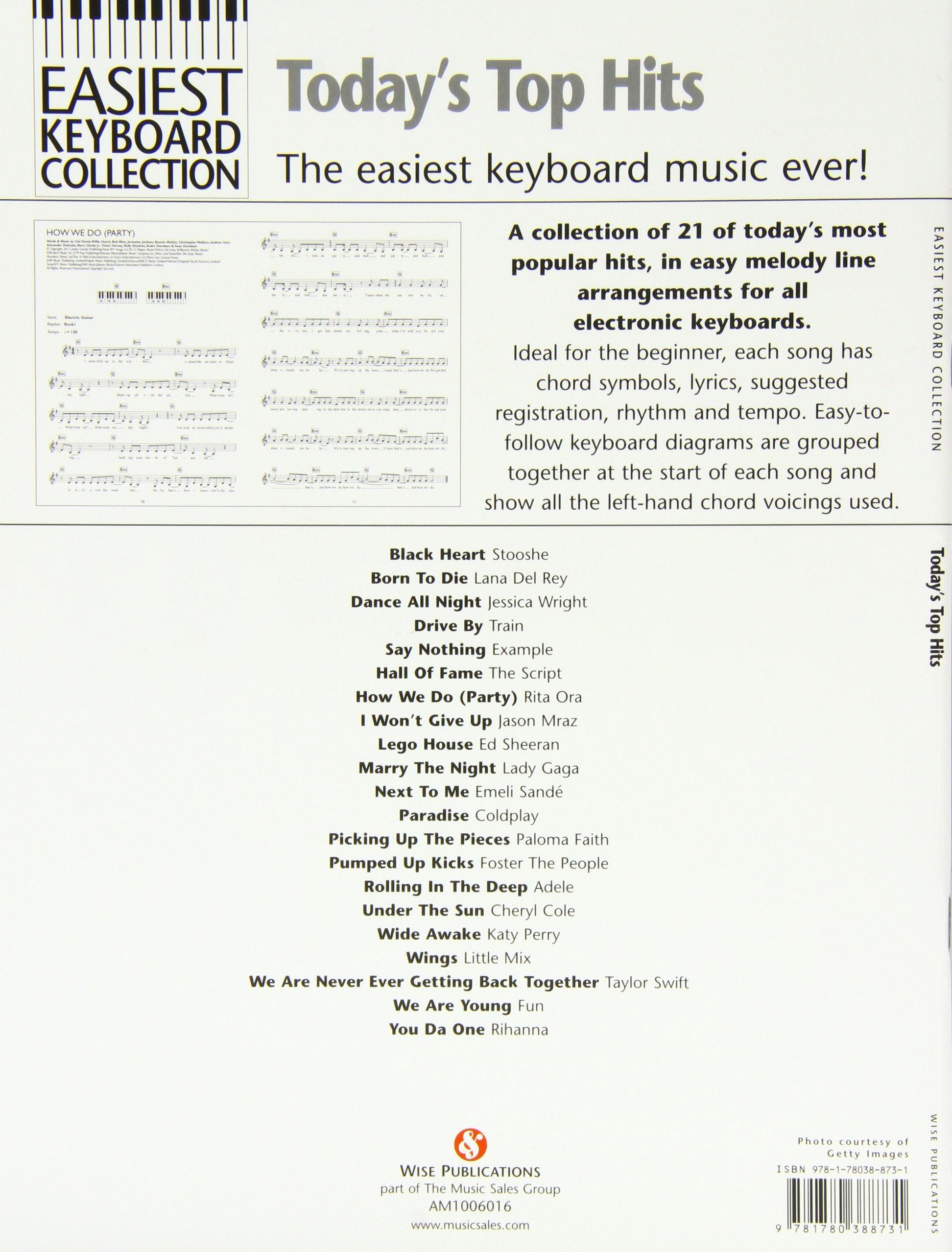 Easiest Keyboard Collection Todays Top Hits Amazon Divers