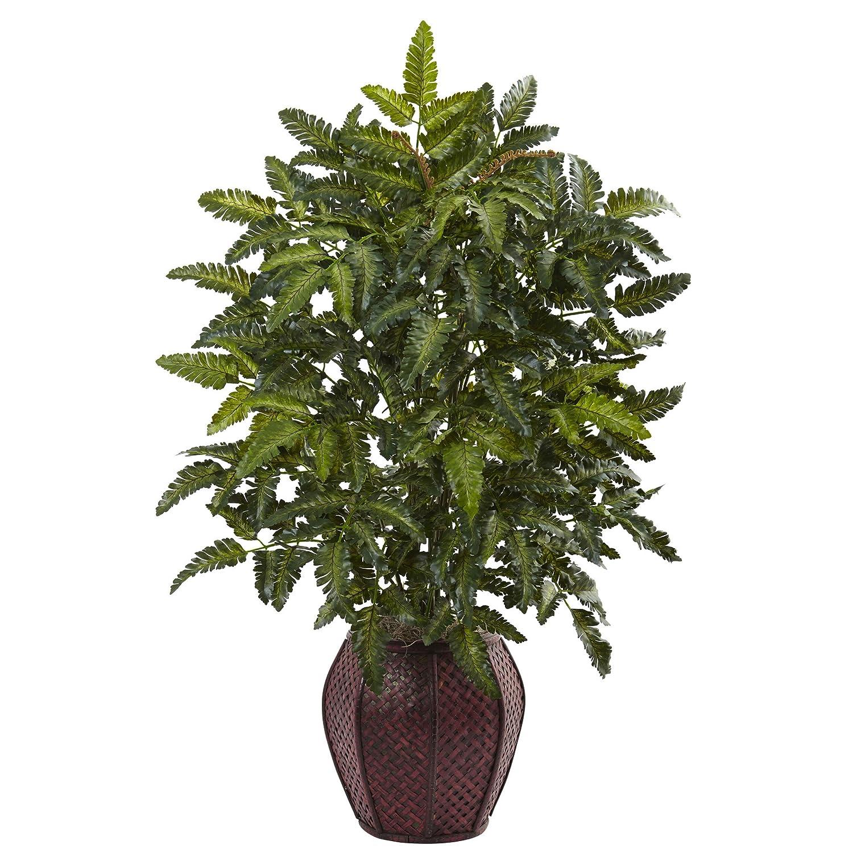 ほぼナチュラル6887 33インチBracken Fern with Decorative Planter B01M6CBD56