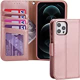 Restoo Compatible with iPhone 12 Pro Max Case,Wallet Case with Card Holder PU Leather 4 Card Slot Kickstand Flip Cover for iP